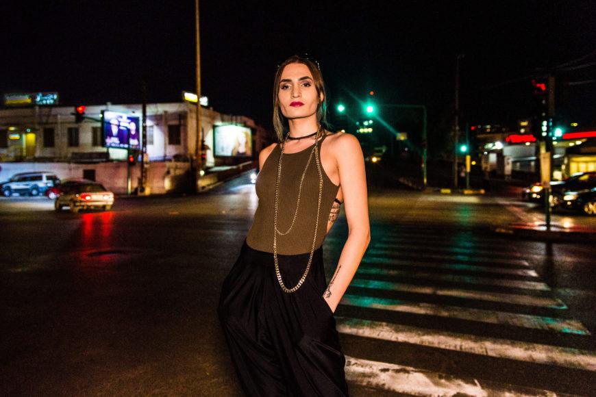 Sasha Elijah, militante y una de las primeras modelos transexuales de Oriente Medio.
