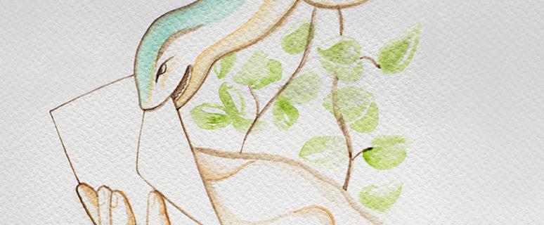 Una serpiente intenta arrebatar el sobre electoral a una mano. Ilustración de Carol Caicedo.