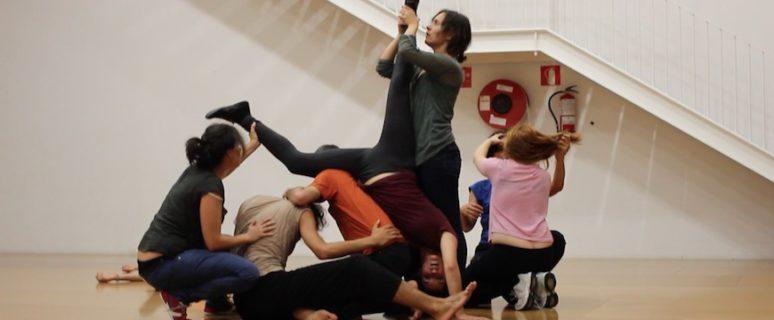 Un momento de la performance-taller grupal 'Manada', coordinada por Azahara Ubera