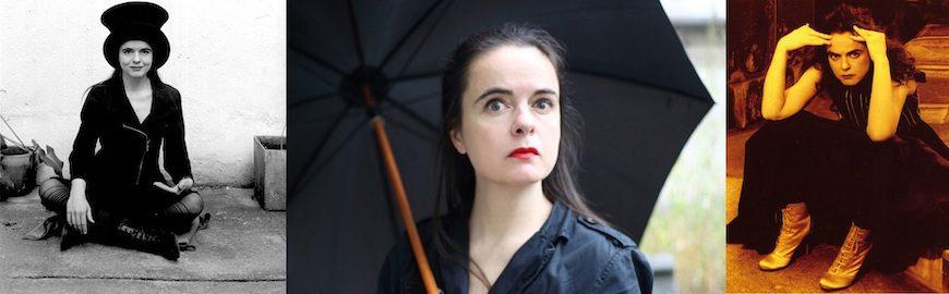 Tres retratos de la escritora Amèlie Nothomb