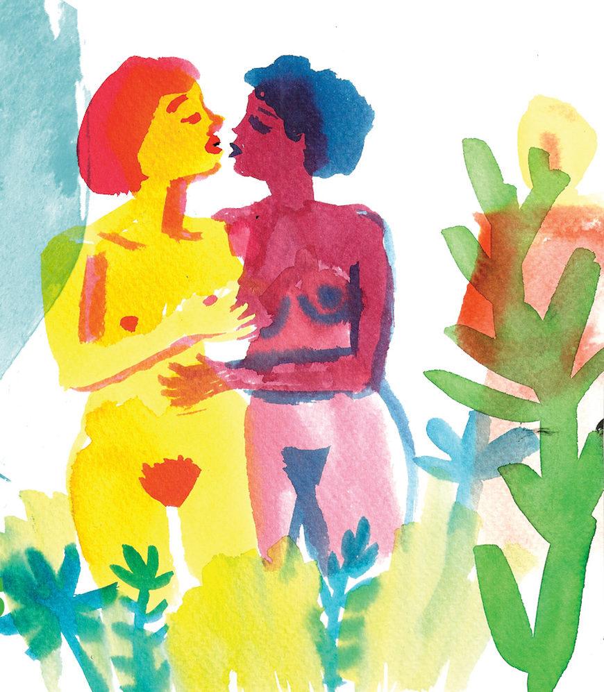 """Ilustración de Núria Frago para el Pikara Lab 'Identidades lésbicas: más allá de las fronteras"""""""