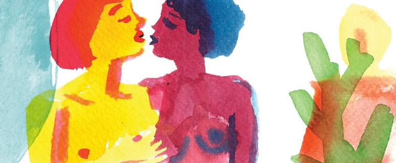 Ilustración de Núria Frago para el Pikara Lab 'Identidades lésbicas: más allá de las fronteras'