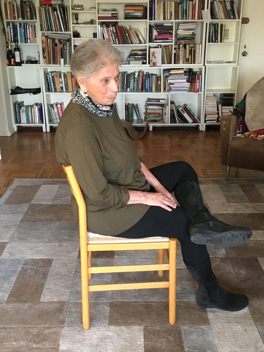 Vivian Gornick en su casa de Nueva York./ LOURDES VELASCO