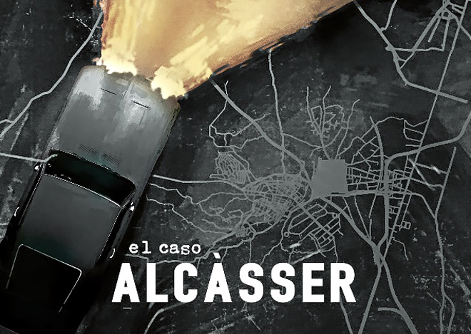 Imagen promocional de la serie de Netflix, consiste en un coche cuyos fotos sueltan una llamarada, sobre el mapa de una ciudad