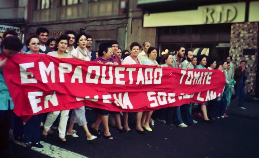 En 1978, las empaquetadoras de tomate hicieron huelga para exigir el respeto a sus derechos laborales