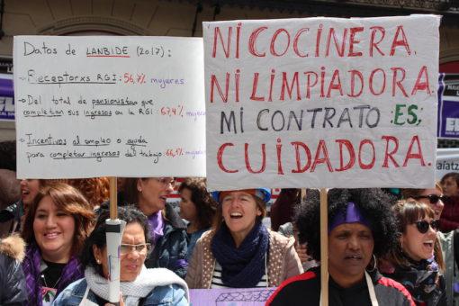 Este 1 de mayo en Bilbao las mujeres se plantan ante la explotación laboral. 01/05/2018.