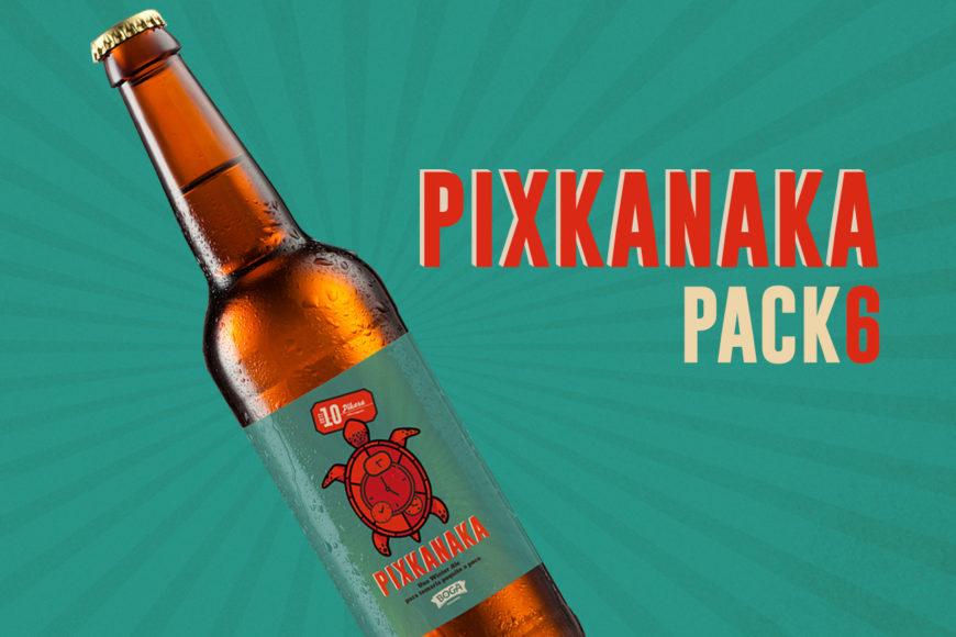 imagen del botellín de cerveza Pixkanaka, de PIkara Magazine.