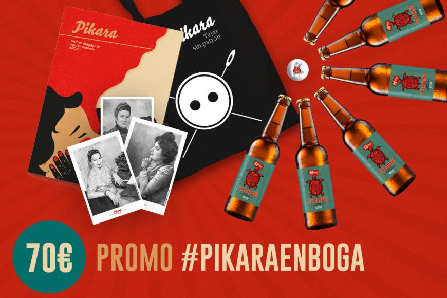 pack de promoción de Pixkanaka para hacerse amiga de Pikara Magazine