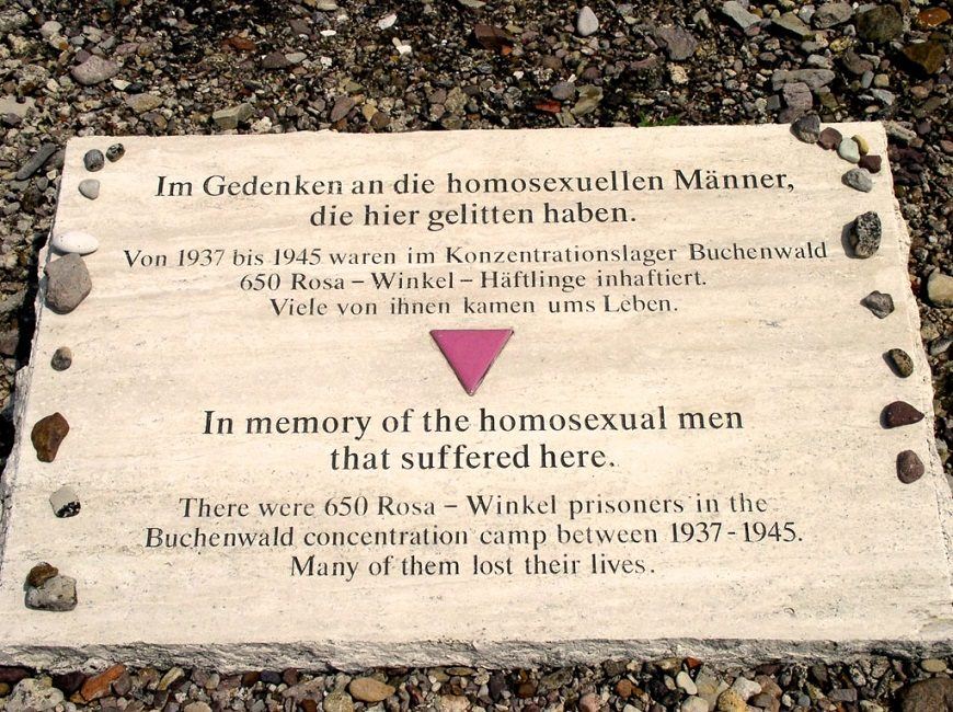 Memorial para los homosexuales asesinados en el campo de concentración Buchenwald.